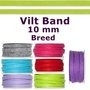 Vilt band 10 mm breed