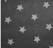 Vilt 3 mm dik met sterren