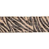 Jute Band Zebra Print 6 cm breed 50 cm lang per zakje_