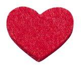 Vilt hartjes rood 12 stuks in een zakje_