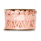 Satijn flamingo band roze 45 mm breed ca. 1 meter per zakje_