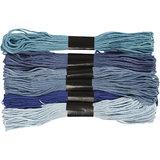 Borduurgaren blauw tinten 7 strengen set _