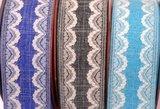 Linnen band met kant Donker Blauw 38 mm breed per meter_