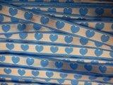 Lint hartjes blauw 10 mm breed per meter_