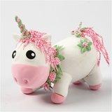 Funny friends unicorn baby blanca_