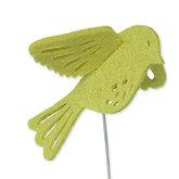 Vilt 3D vogel fel groen 8,5 cm groot per stuk
