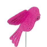 Vilt 3D vogel fuchsia 8,5 cm groot per stuk