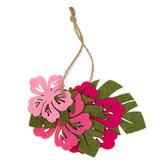 Vilt set bloem & blaadjes, Licht Roze, Roze, Groen, Fuchsia