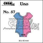 Crealies Uno stans rompertje klein