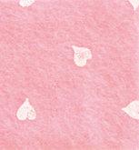 Vilt Print, Hartjes, Roze