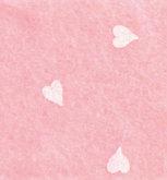 Vilt Print, Hartjes, Baby Roze