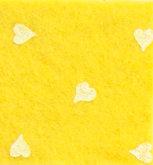 Vilt Print, Hartjes, geel