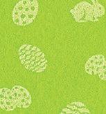 Vilt Lapje 30 x 40 cm, Fel groen met paas print