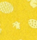 Vilt Lapje 30 x 40 cm, Geel met paas print