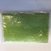 Jute grof groen 17 cm breed lengte 25 cm per stuk
