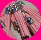 Flosjes licht roze 5 cm lang per stuk