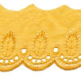 Broderie warm geel 50 mm breed per meter