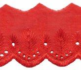 Broderie rood 50 mm breed per meter
