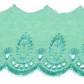 Broderie zee groen 50 mm breed per meter