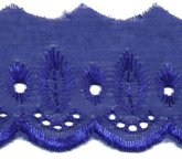 Broderie kobalt blauw 50 mm breed per meter