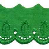 Broderie groen 50 mm breed per meter