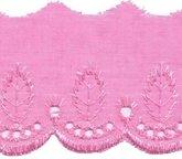 Broderie roze 50 mm breed per meter