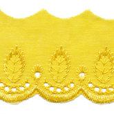 Broderie geel 50 mm breed per meter
