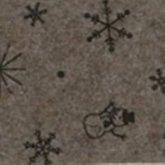 Vilt kerst print sneeuwpop ster bruin 1,5 mm dik 90 cm breed per meter