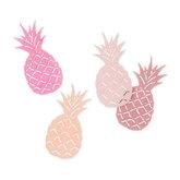Vilt ananassen roze tinten 4 stuks per zakje