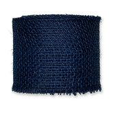 Jute donkerblauw 8 cm breed lengte 50 cm per stuk