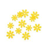 Vilt bloemetjes mini geel 10 stuks per zakje