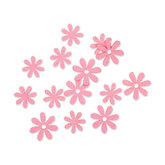 Vilt bloemetjes mini roze 10 stuks per zakje