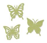 Vilt vlinders groen 6 stuks per zakje