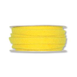 Vilt band 1 cm breed, Geel, 5 meter op rol