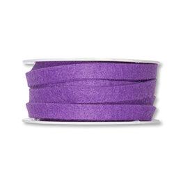 Vilt band 1 cm breed, Paars, 5 meter op rol