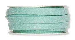 Vilt band 1 cm breed, Pastel Mint, 5 meter op rol
