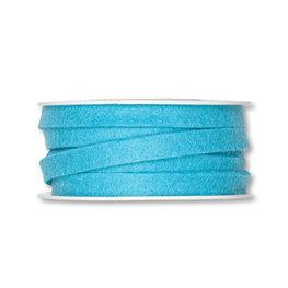 Vilt band 1 cm breed, Aqua, 5 meter op rol