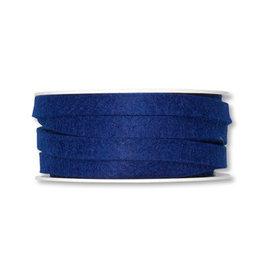 Vilt band 1 cm breed, Donker Blauw, 5 meter op rol
