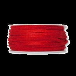 Vilt band 4 mm x 15 meter op rol, Rood