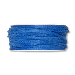 Vilt band 4 mm x 15 meter op rol, Blauw