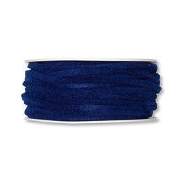 Vilt band 4 mm x 15 meter op rol, Donker blauw