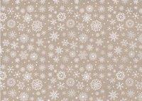 Vilt Lapje 30 x 40 cm, Sneeuwvlokken bruin gemeleerd