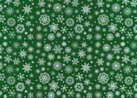 Vilt Lapje 30 x 40 cm, Groen met sneeuwvlokken