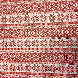 Vilt Lapje 30 x 40 cm, Noorse print rood