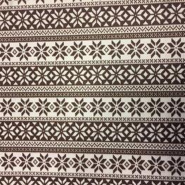 Vilt Lapje 30 x 40 cm, Noorse print donker bruin