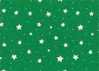 Vilt Lapje 30 x 40 cm, Sterren groen met witte sterren