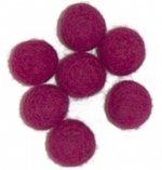 Viltballetjes 10MM Cyclaam, 50 st. per zakje