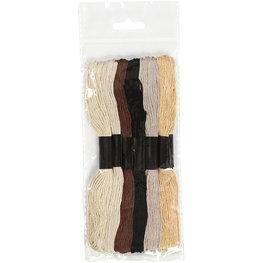 Borduurgaren bruin tinten 7 strengen set
