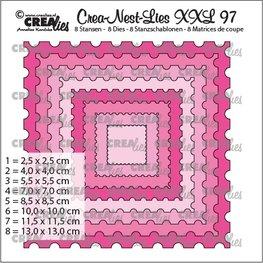 Crealies Nes lies XXL stans postzegel vierkant