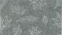 Vilt lapje grijs met blaadjes print 30 x 40 cm per lapje
